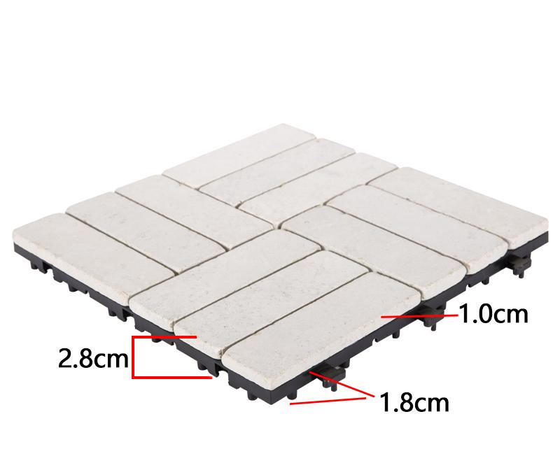 JIABANG interlocking travertine pool tiles at discount for garden decoration-3