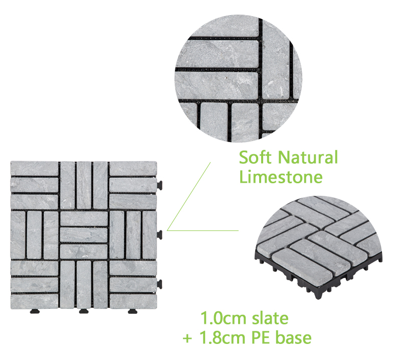 JIABANG outdoor tumbled travertine floor tiles at discount for garden decoration-4