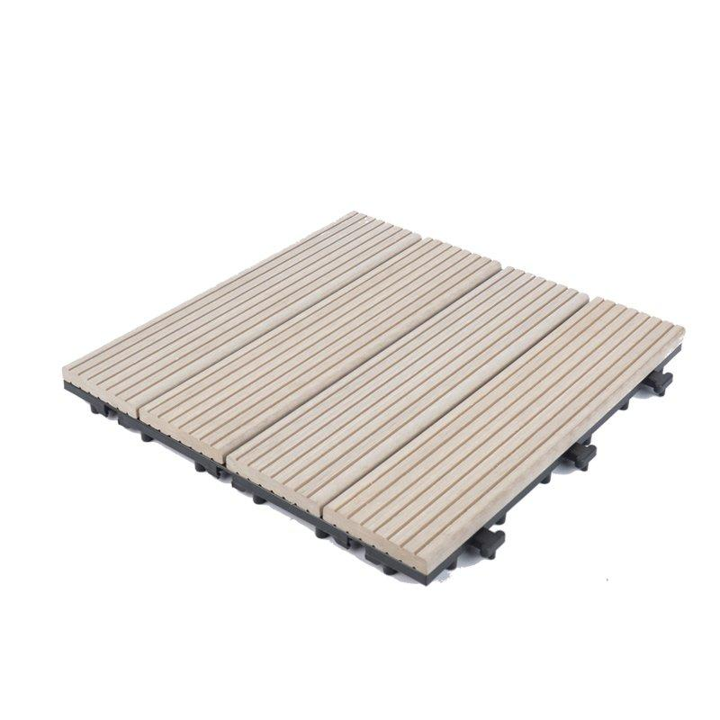 White color wpc compositedecking tile for outdoor floor SM-4P-A WH