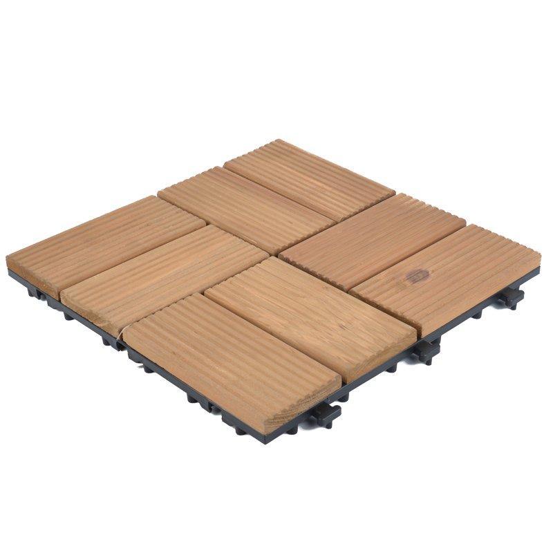 Garden decking fir wooden floor tiles  S8P3030BC