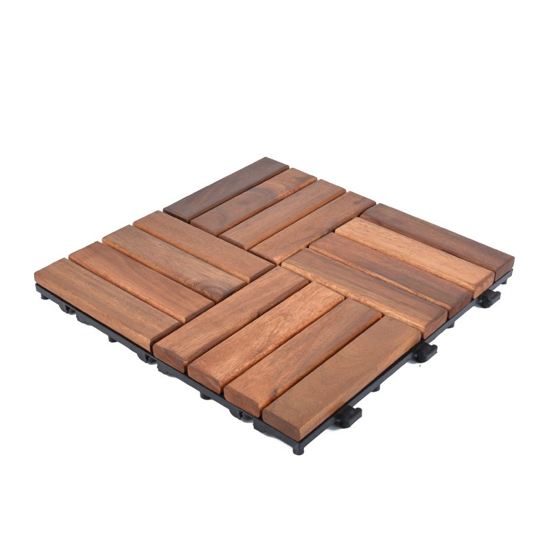 JIABANG Solid wood acaciadeck tile for outdoor flooring A16P3030PC Acacia Deck Tile image54