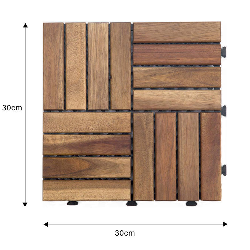 hot-sale acacia tile solid wood cheapest factory price for decoration