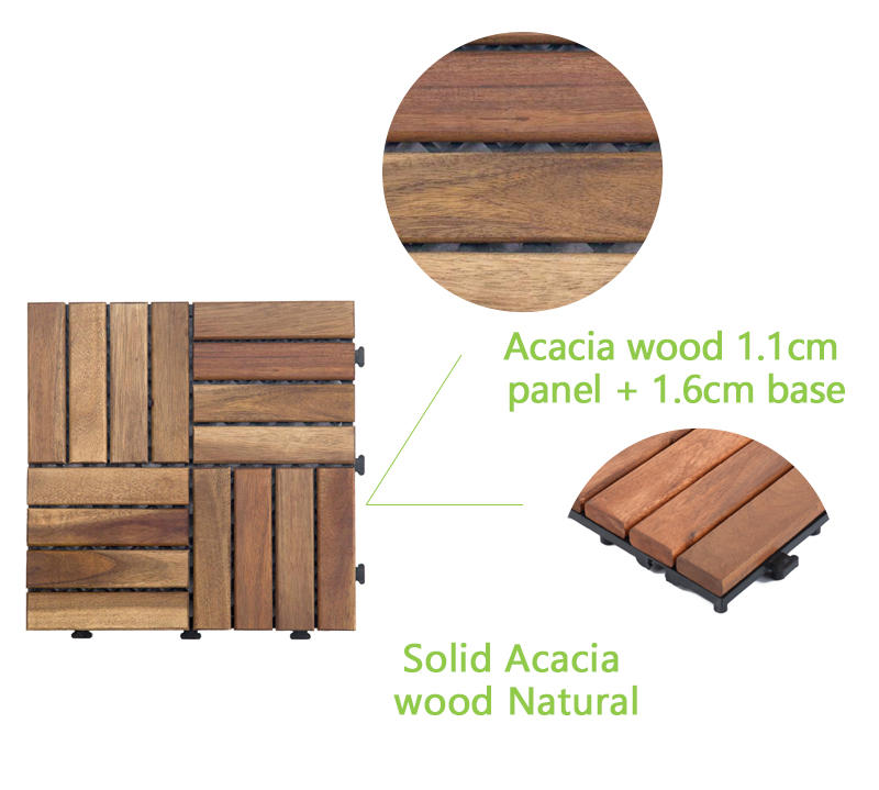 solid wood acacia tile at discount