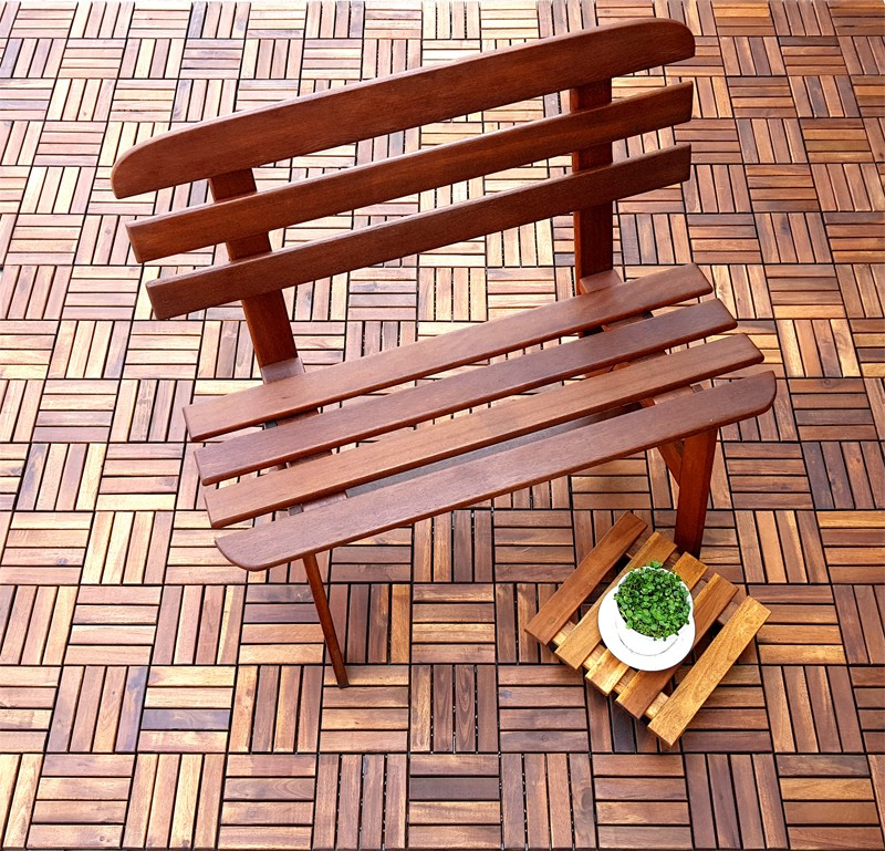 stable acacia wood tile solid wood cheapest factory price easy installation-8