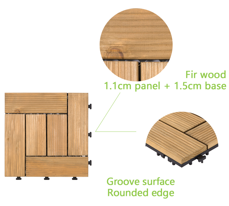 JIABANG natural wooden decking squares wood deck wooden floor-4