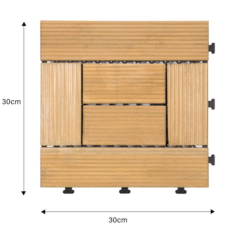 interlocking modular wood decking diy wood flooring wood for garden-1