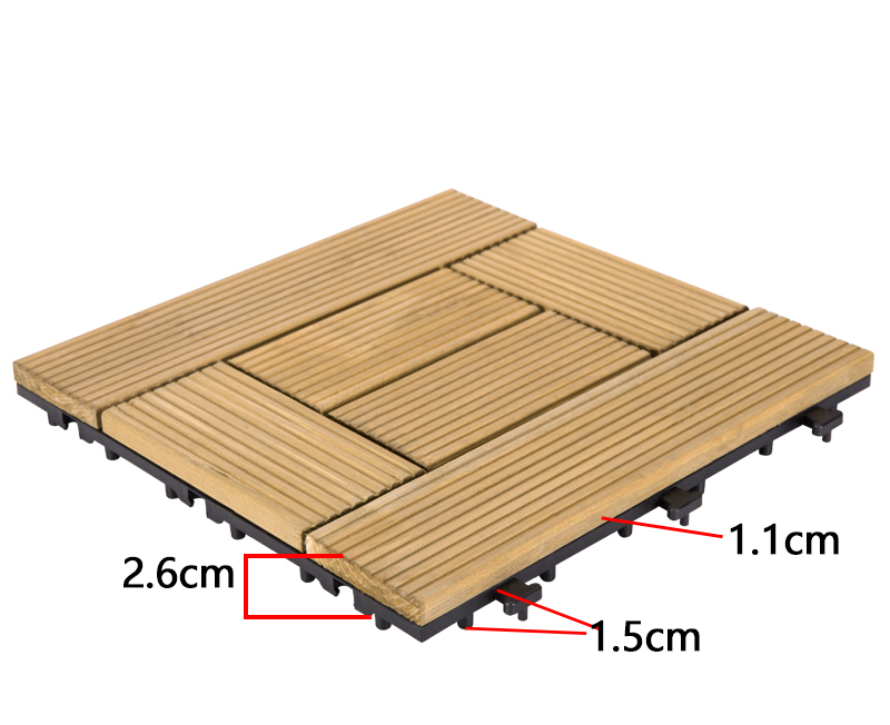 interlocking modular wood decking diy wood flooring wood for garden-3