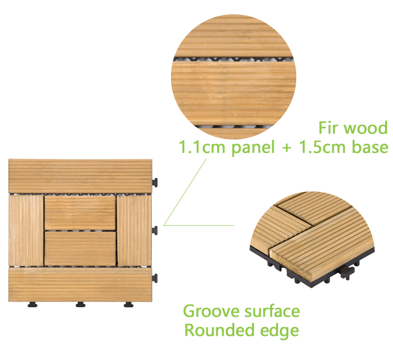 interlocking modular wood decking diy wood flooring wood for garden-4