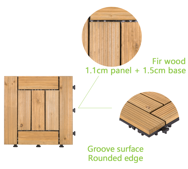 interlocking wood deck panels natural chic design for garden-4