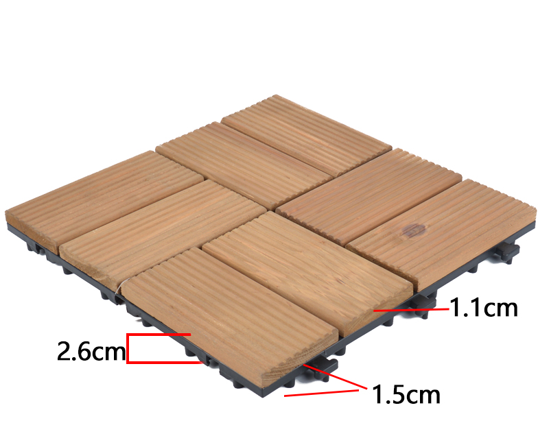 JIABANG diy wood interlocking wood deck tiles wood deck for balcony-5