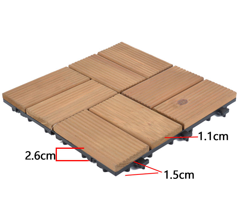 garden deck interlocking wood deck tiles floor JIABANG Brand company