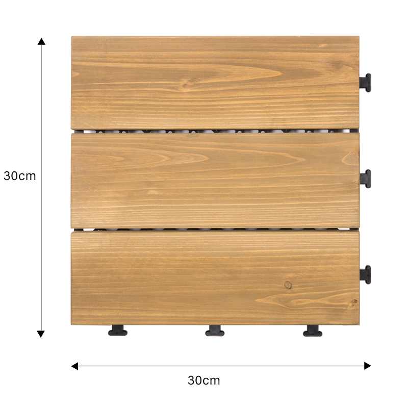 interlocking square wooden decking tiles natural flooring wood for balcony-1