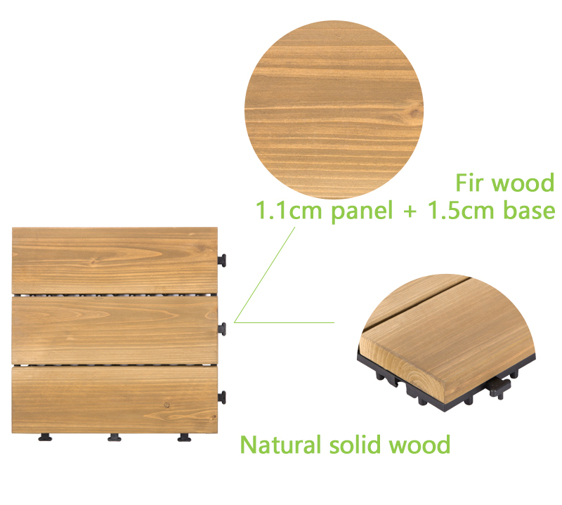 adjustable wooden decking squares natural long size wooden floor-4