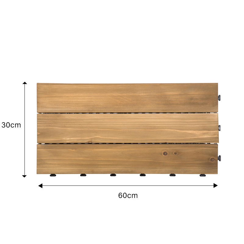 JIABANG natural hardwood deck tiles flooring for garden