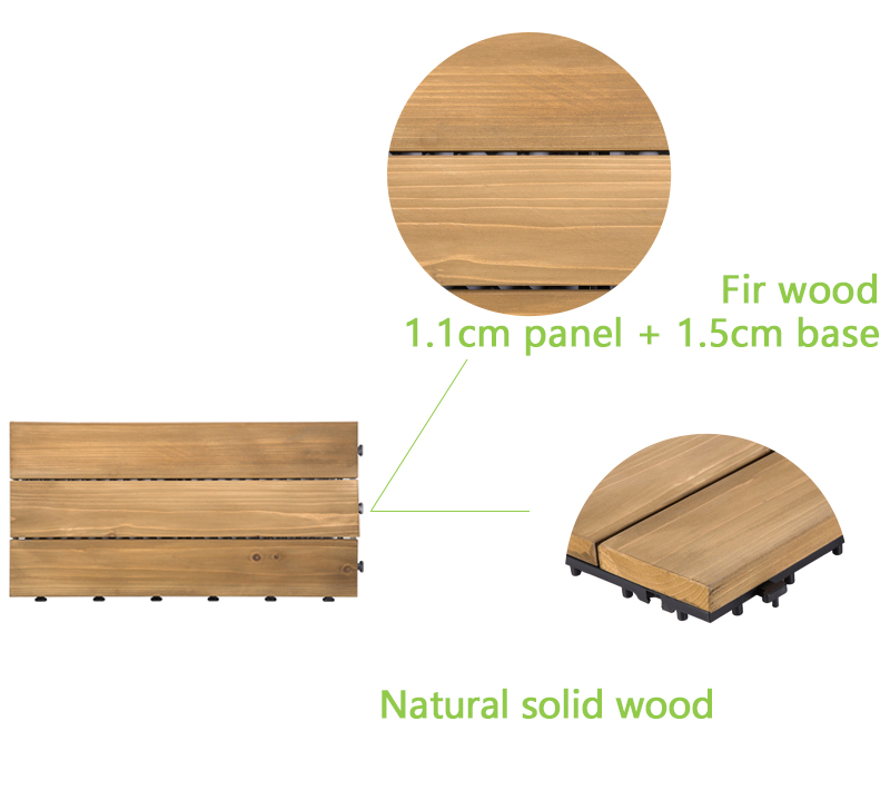 JIABANG natural hardwood deck tiles flooring for garden-4