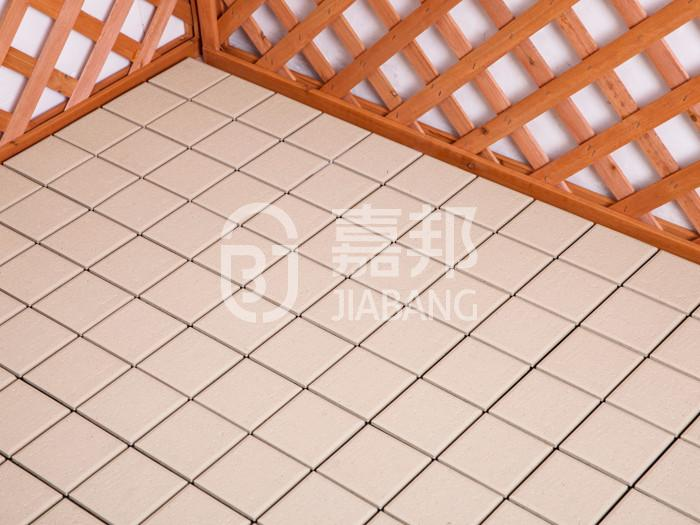 JIABANG natural hardwood deck tiles flooring for garden-12