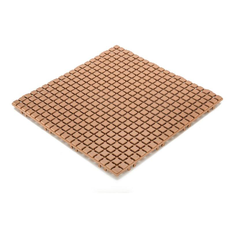 Non slip bathroom flooring plastic mat JBPL3030N sand