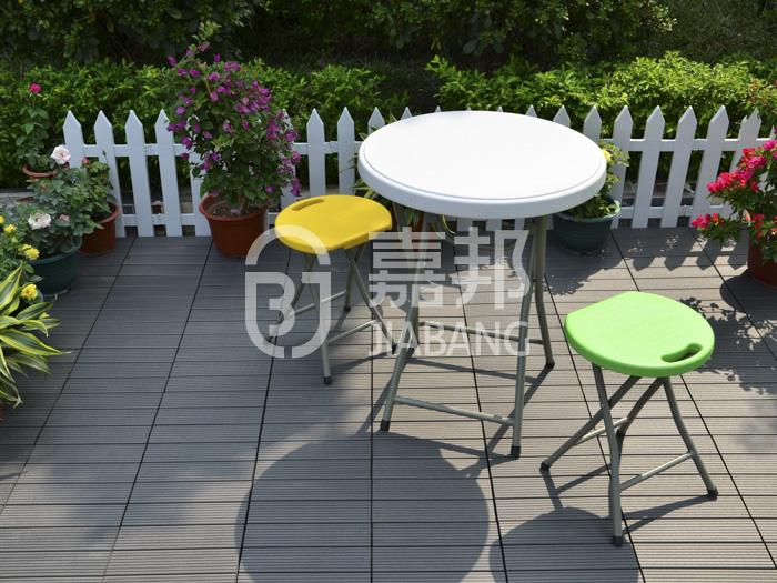 easy installation composite wood deck tiles outdoor best quality JIABANG-6