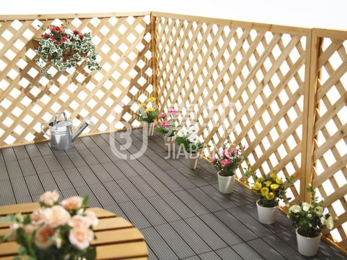 easy installation composite wood deck tiles outdoor best quality JIABANG-7