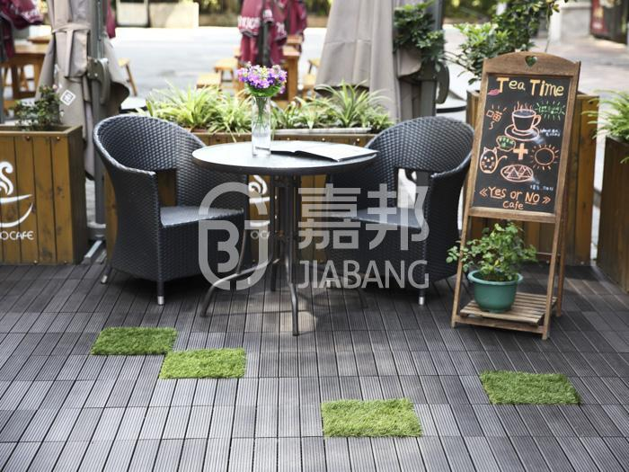 composite wood tiles tile deck pool JIABANG Brand composite deck tiles
