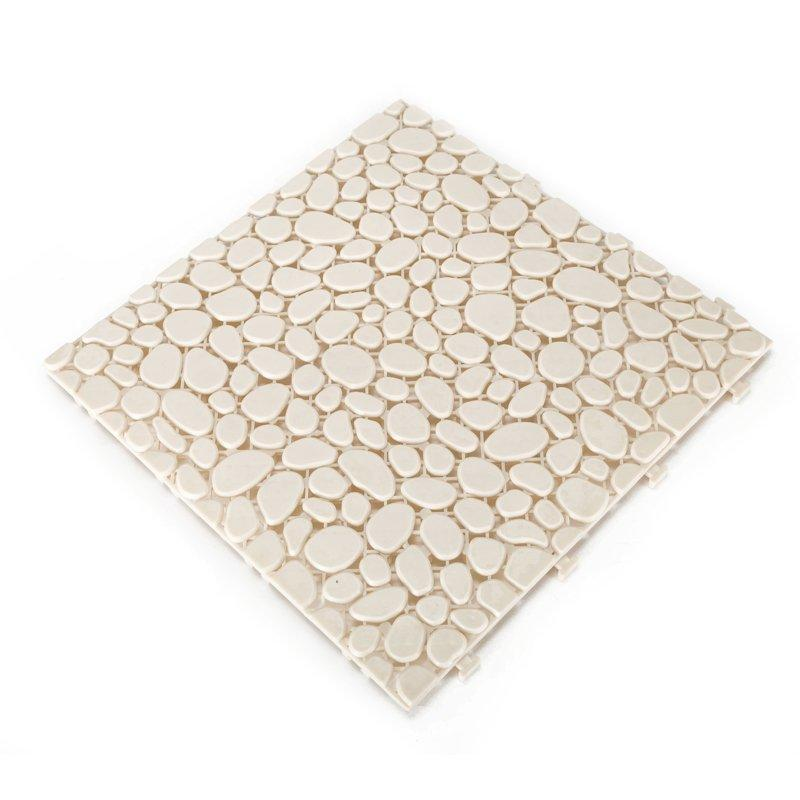 Non slip bathroom flooring plastic mat JBPL303PB cream