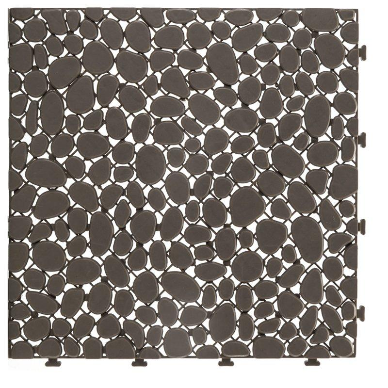 Non slip bathroom flooring plastic mat JBPL303PB grey