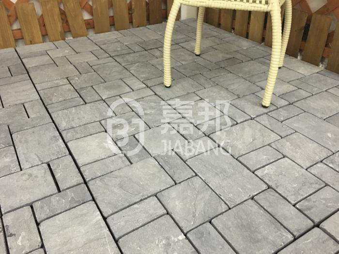 diy gray travertine tile natural for garden decoration JIABANG