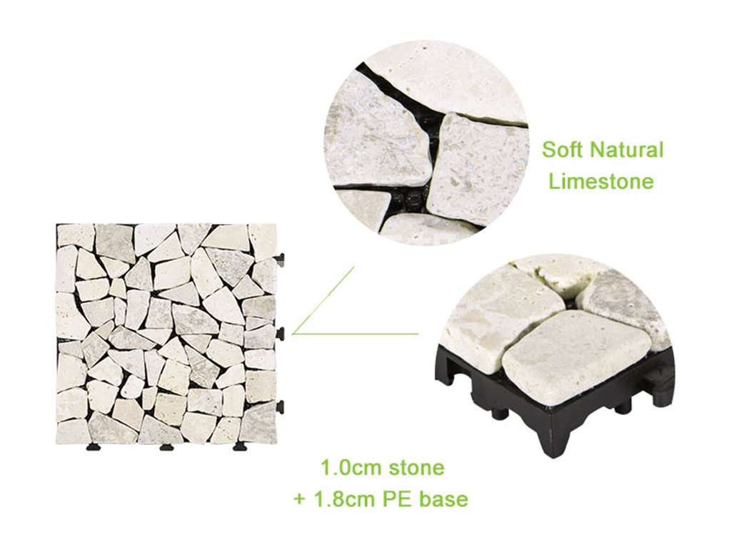 interlocking travertine wall tiles diy high-quality for garden decoration-4