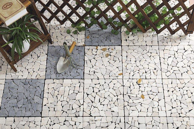 interlocking travertine wall tiles diy high-quality for garden decoration