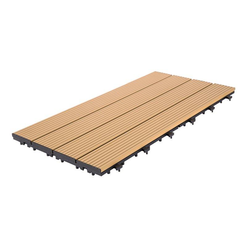 Outdoor metal aluminum deck tiles AL4P3060 brown
