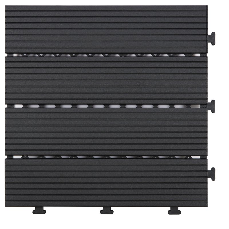 JIABANG Outdoor metal aluminum deck tiles AL4P3030 black Aluminum Deck Tiles image2