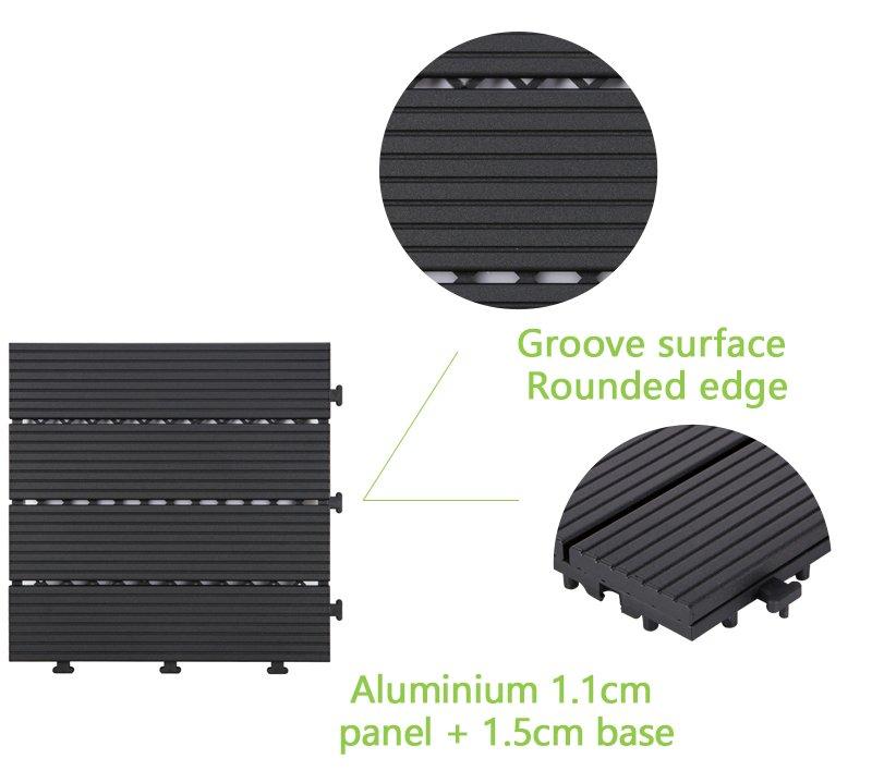 outdoor metal deck tile