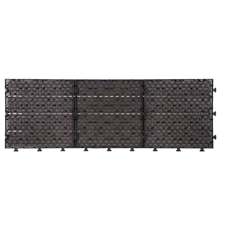 JIABANG Outdoor metal aluminum deck tiles AL4P3090 dk brown Aluminum Deck Tiles image1