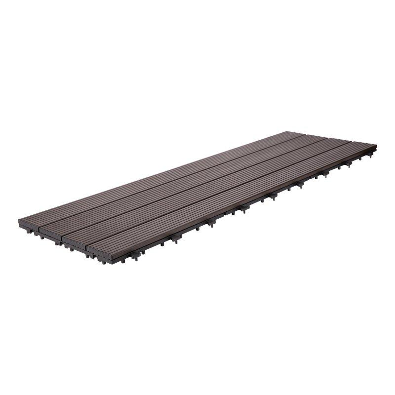 Outdoor metal aluminum deck tiles AL4P3090 dk brown