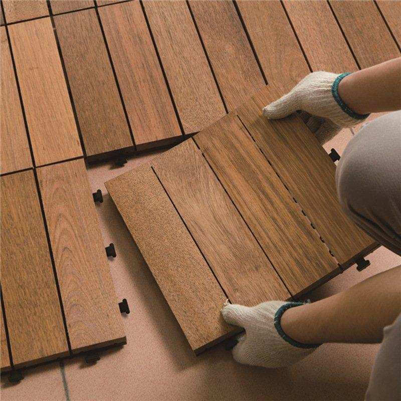 how to install decking tile