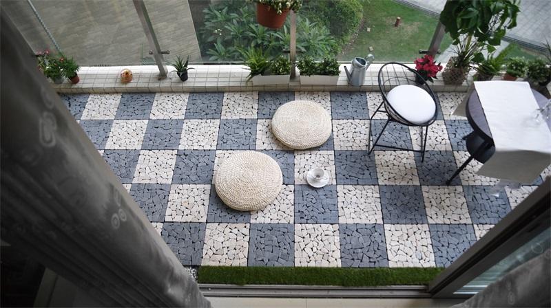 JIABANG Natural travertine stone decking floor for garden path TTLNP-GY Travertine Deck Tile image24