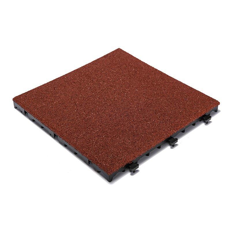 SBR rubber gym deck tiles XJ-SBR-RD001