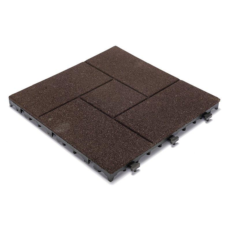2018 soft rubber gym flooring deck tiles XJ-SBR-DBR002