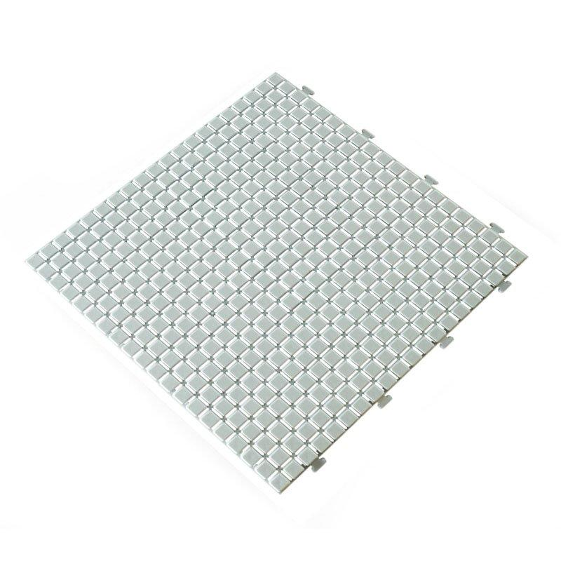 Non slip bathroom flooring plastic mat JBPL3030N off white