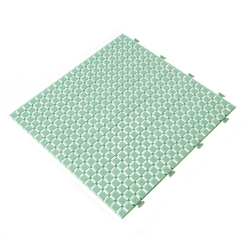 Non slip bathroom flooring plastic mat JBPL3030N green