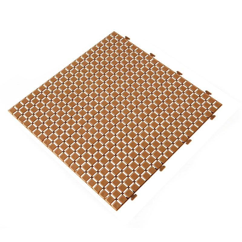 Non slip bathroom flooring plastic mat JBPL3030N coral