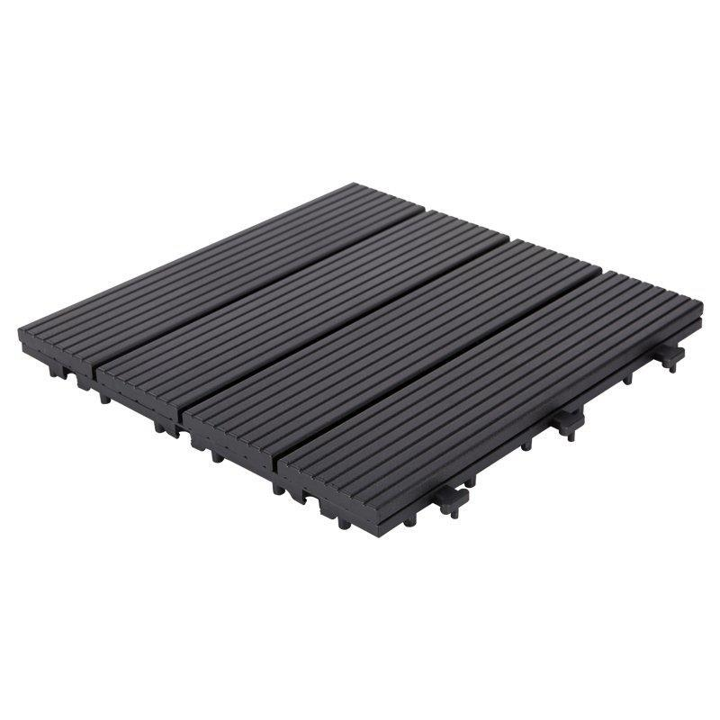 Outdoor metal aluminum deck tiles AL4P3030 black