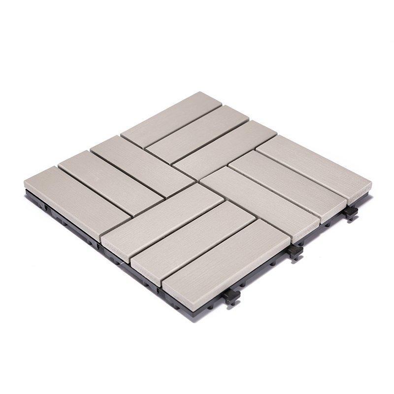 Plastic sun room decking tile PS12P30312LGC