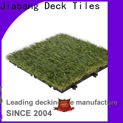 JIABANG anti-bacterial outdoor wood tiles on grass hot-sale for garden