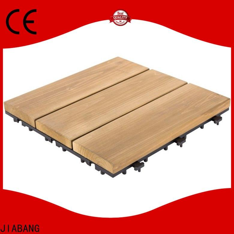 interlocking square wooden decking tiles natural flooring wood for balcony