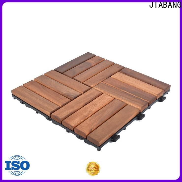 anti-slip acacia wood patio tiles interlocking for decoration