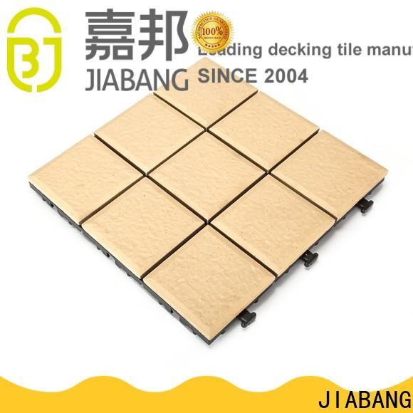JIABANG OBM interlocking ceramic deck tiles free delivery at discount