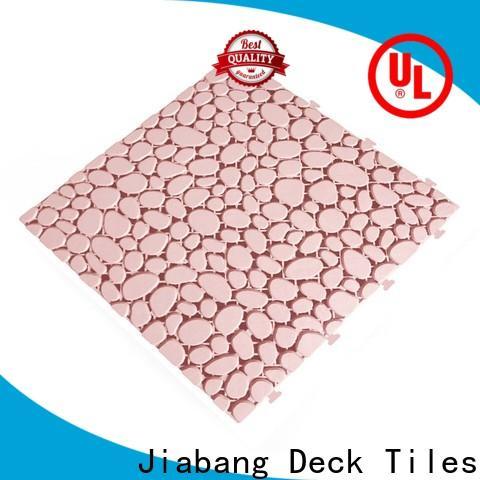 JIABANG plastic mat interlocking plastic garden tiles non-slip for wholesale