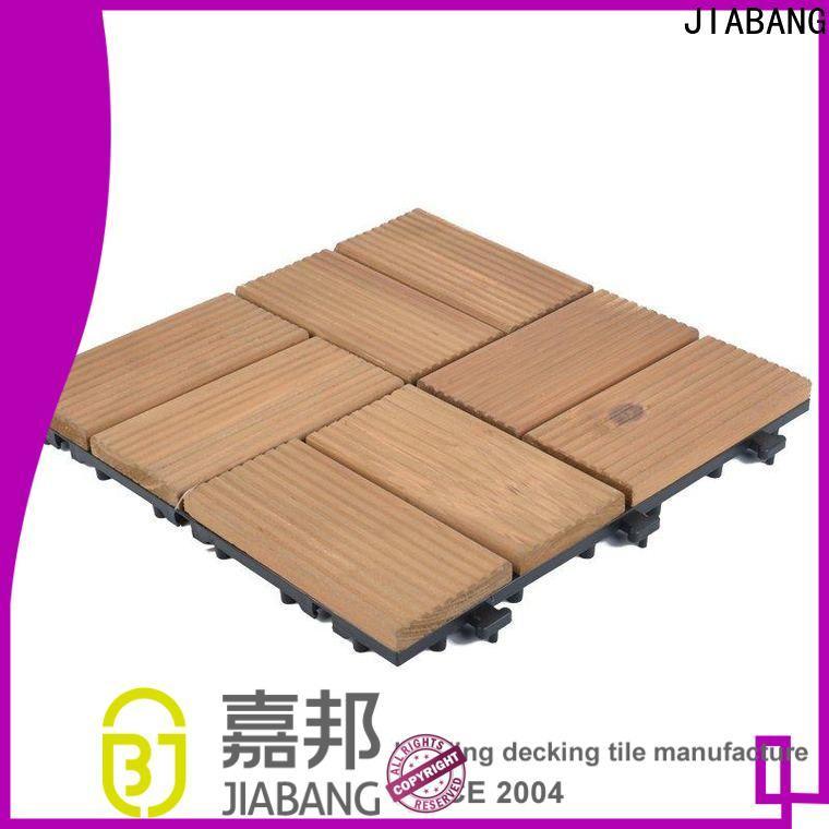 JIABANG natural square wooden decking tiles long size wooden floor