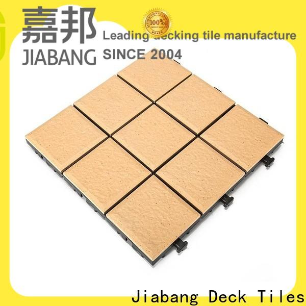 JIABANG balcony rubber tiles manufacturing process best manufacturer for patio